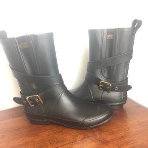 Burberry rain boots black size 35